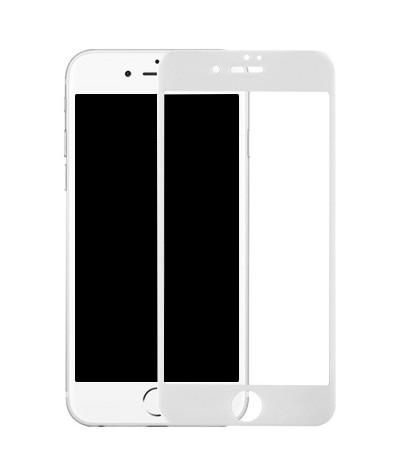 Белое защитное стекло 5D...