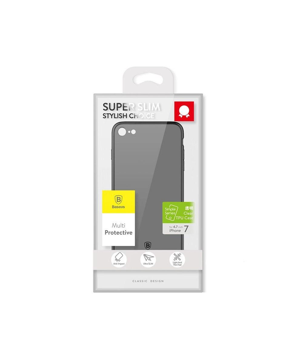 Чёрный матовый чехол для iPhone 6/6s