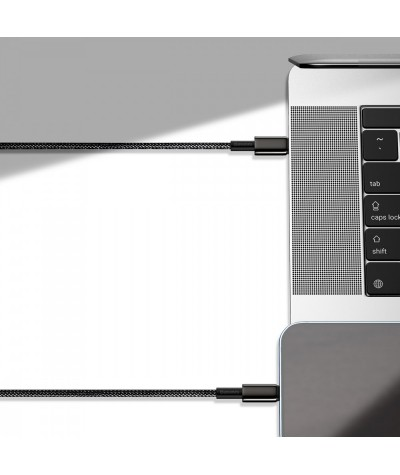 Кабель для быстрой зарядки Baseus Tungsten Gold Type-C to Lightning Power Delivery 20W 1m черный